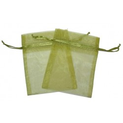 Bolsa de Organza - Verde (15x13x0.5 Cm )