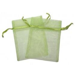 Bolsa de Organza - Pasto verde (15x13x0.5 Cm )