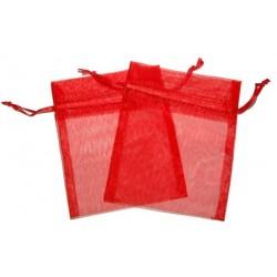 Bolsa de Organza - Vermelho (15x13x0.5 Cm )