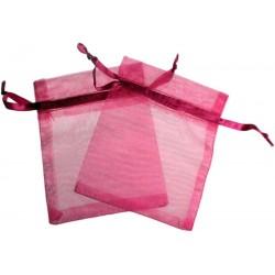 Bolsa de Organza - Vermelho Claro (15x13x0.5 Cm )