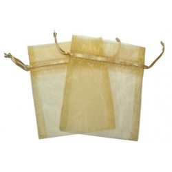 Bolsa de Organza - Ouro (15x13x0.5 Cm )