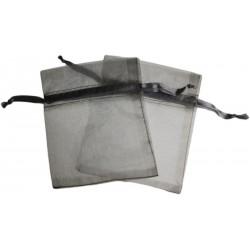 Bolsa de Organza - Prata (15x13x0.5 Cm )