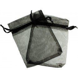 Bolsa de Organza - Preto (15x13x0.5 Cm )