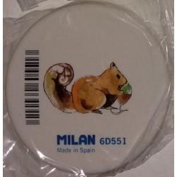 Borracha redonda branca Milan