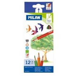 Lapis c/12 cores triangular Milan