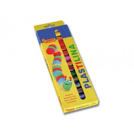 Plasticina jovi cores sortidas - 10 barras.