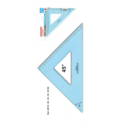 Esquadro Tecnoschool 45°, 30cm Arda