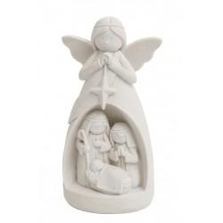 ANJO C/SAGRADA FAMILIA INFANTIL 9x3.5x12CM