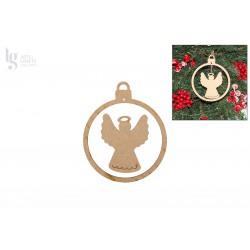 2 CHRISTMAS BALL W/ ÁNJGEL 10X12X0.3CM MDF