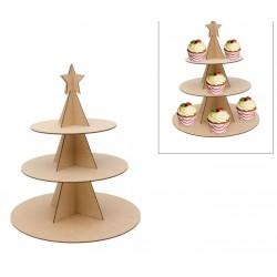 CAKE STAND CHRISTMAS TREE D.35X40X0.3CM MDF