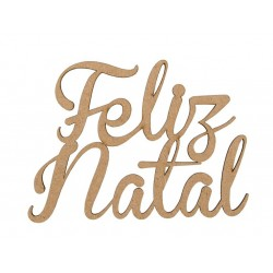 2 FRASES FELIZ NATAL 12.7X9.2X0.3CM MDF