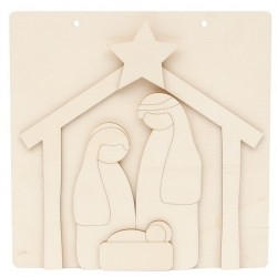 PLAQUE W/ HOLY FAMILY 20X20X0.3CM CHOUPO