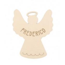 ANGEL W/ CUSTOMIZE NAME 10X8.2X0.3CM POPLAR WOOD
