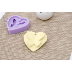 SILICONE MOLD 8X8X1.5CM MLD005 HEART BUTTERFLY