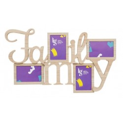 P.FOTO(10x15cm) FAMILY 62.8X36.8X0.9CM MDF FOLHA