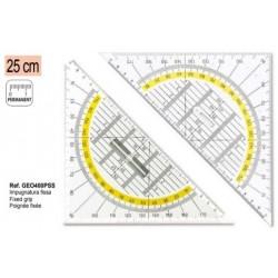 Esquadro Geométrico Uni 45º Pega Fixa, 25cm