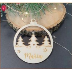 BOLA DE NATAL PERSONALIZADA 90x80mm Contraplacado 3mm