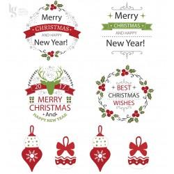 PAPEIS 21X29.7CM MERRY CHRISTMAS P/CALCOTRANSFER