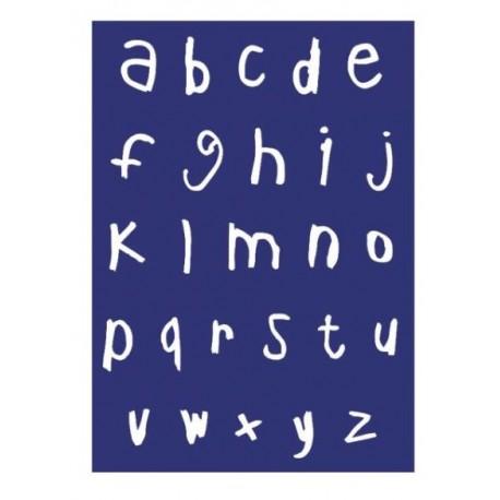 "Kit Stencil A4 P/Tecido ""Alfabeto Minúsculas"""