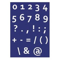 "Kit Stencil A4 P/Tecido ""Números e Sinais"""