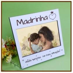 MOLDURA QUADRADA MADRINHA Branco 16X16x1cm MDF