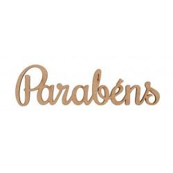 PALAVRAS PARABÉNS 10.3X3X0.3CM MDF