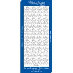 Starform Transparent Glitter Stickers  Prata108