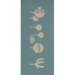 Stencil 33 x 14 cm Acrilex  bolas de Natal