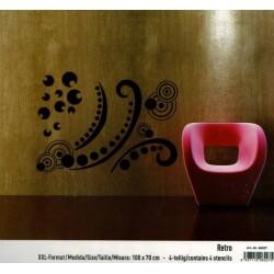 """Stencil Maxi 70x100 """"Retro"""""""
