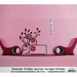 Stencil Maxi 115x70 Flor magica
