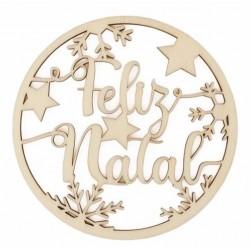 BOLA DE NATAL Feliz Natal Mãe 12X12.6X0.3CM CHOUP