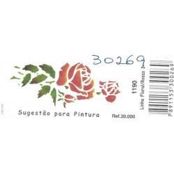 Stencil 33 x 14 cm Acrilex Rosas