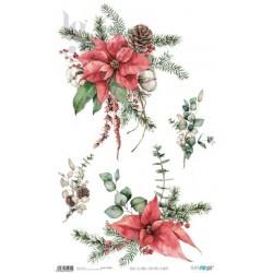 PAPEL ARROZ 54X33CM CHRISTMAS PFY-4427