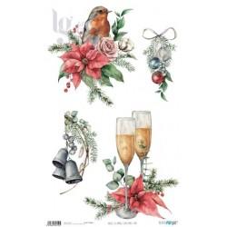 PAPEL ARROZ 54X33CM CHRISTMAS PFY-4431