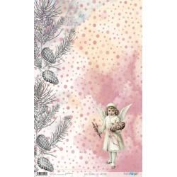 PAPEL ARROZ 54X33CM LAST CHRISTMAS PFY-3116