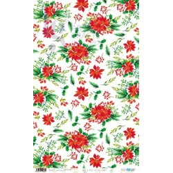 PAPEL ARROZ 54X33CM CHRISTMAS FLOWERS PFY-1985