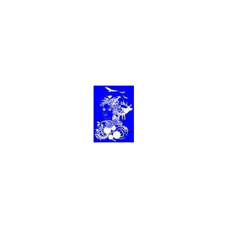 """Kit Stencil A4 P/Tecido """"Future Girl"""""""