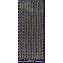 Folhinhas Gliter Azul Contorno Ouro