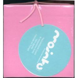 Livro 12x12 reciclado 100% algodão Rosa filamentos c/cordão
