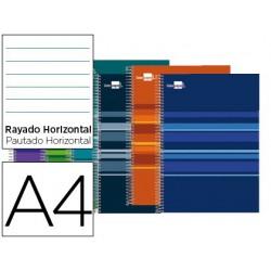 Caderno esp. LP Classic 160fls A4 pautado cores sortidas