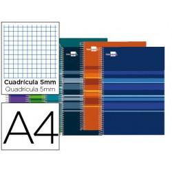 Caderno esp. LP Classic 160fls A4 quadr. cores sortidas