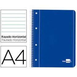 CADERNO LP A4 capa azul pautado