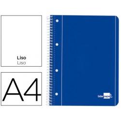 CADERNO LP A4 capa azul liso