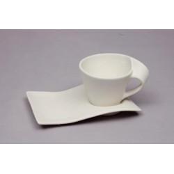 TEA-CUP + SAUCER 21X10CM