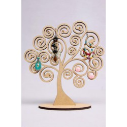 TREE FOR EARRINGS 22X24.5X0.5CM MDF