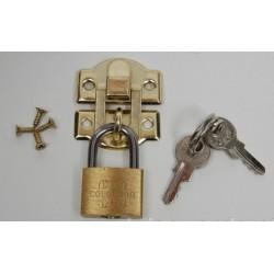 LOCK 2.6X3CM W/PADLOCK GOLD
