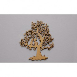 TREE W/COUPLE 17.4X20X0.3CM MDF