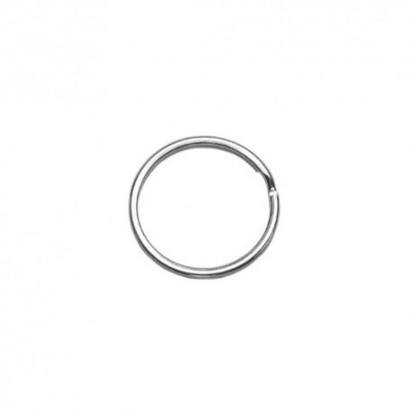 10  Argolas para porta-chaves em prateado com 20mm de diametro
