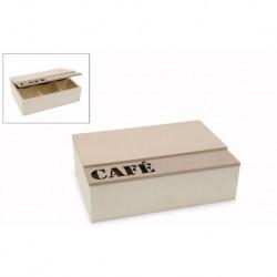 CAIXA 23X16X7CM C/TAMPA CAFE