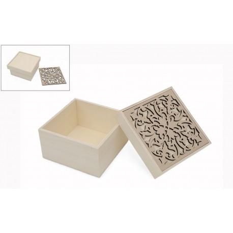 BOX W/PLAQUE 15X15X8.5X0.5CM